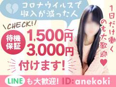 体験保証3万円♪ 20代の学生、社会人などの女の子がどこよりも稼げるお店!♪仙台出張手コキ専門店あねこき